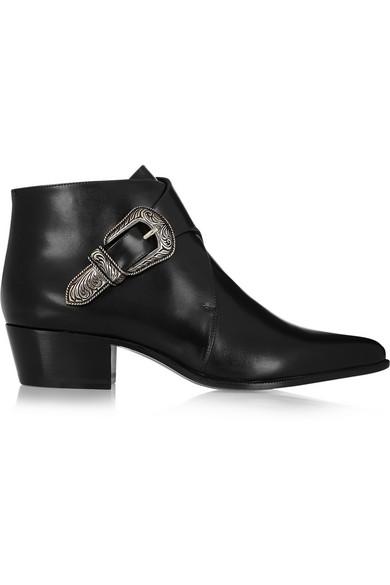 SAINT LAURENT Duckies leather ankle boots
