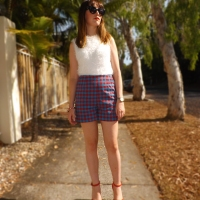 Outfit Post: 1950's Style High Waisted Shorts